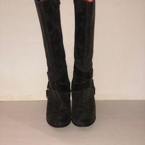 Fergie knee high heeled boots